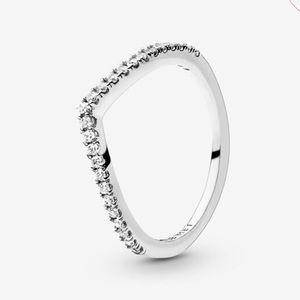 PANDORA Sparkling Wishbone Ring size 4.5/48